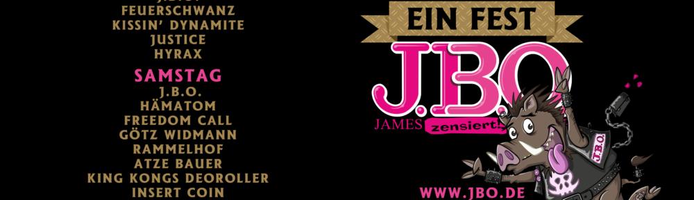 "J.B.O. – Drei Jahrzehnte Comedy Metal - ""Ein Fest"" Running Order"